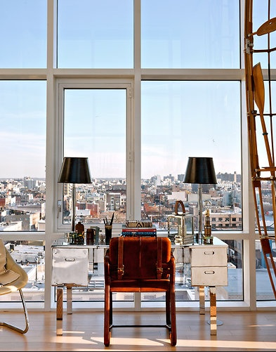 Interiors: office with a view