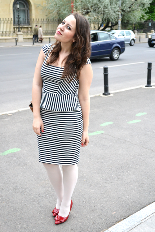 Outfit post: striped peplum dress