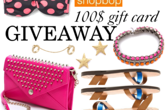 Shopbop 100$ Madewell & co giveaway