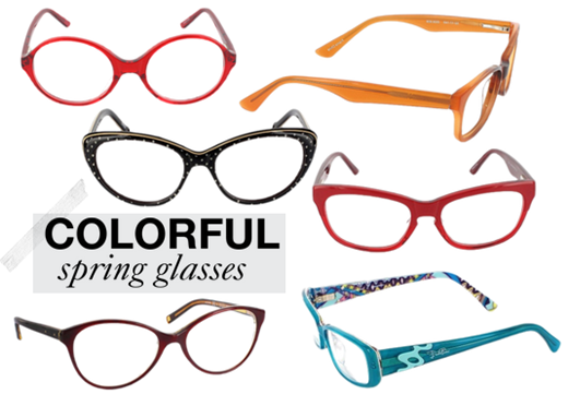 Colorful glasses for spring