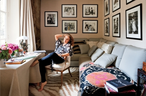 Diane Von Furstenberg's home office