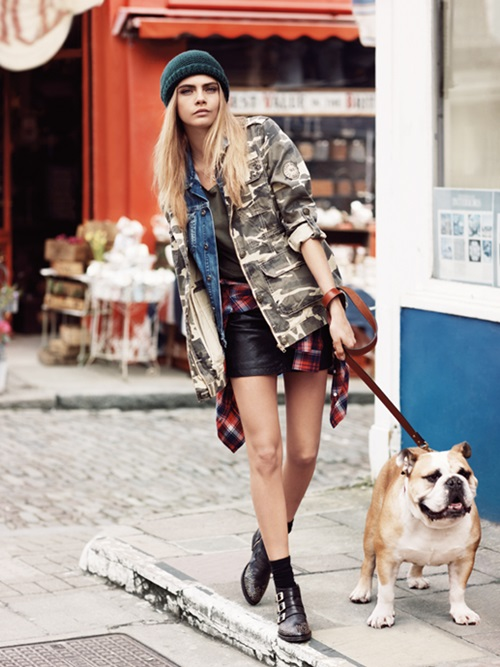 Cara Delevingne for Pepe Jeans Fall 2013