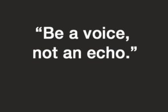 Sunday quote, be a voice