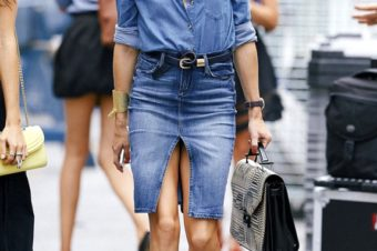 Double denim for the end of summer