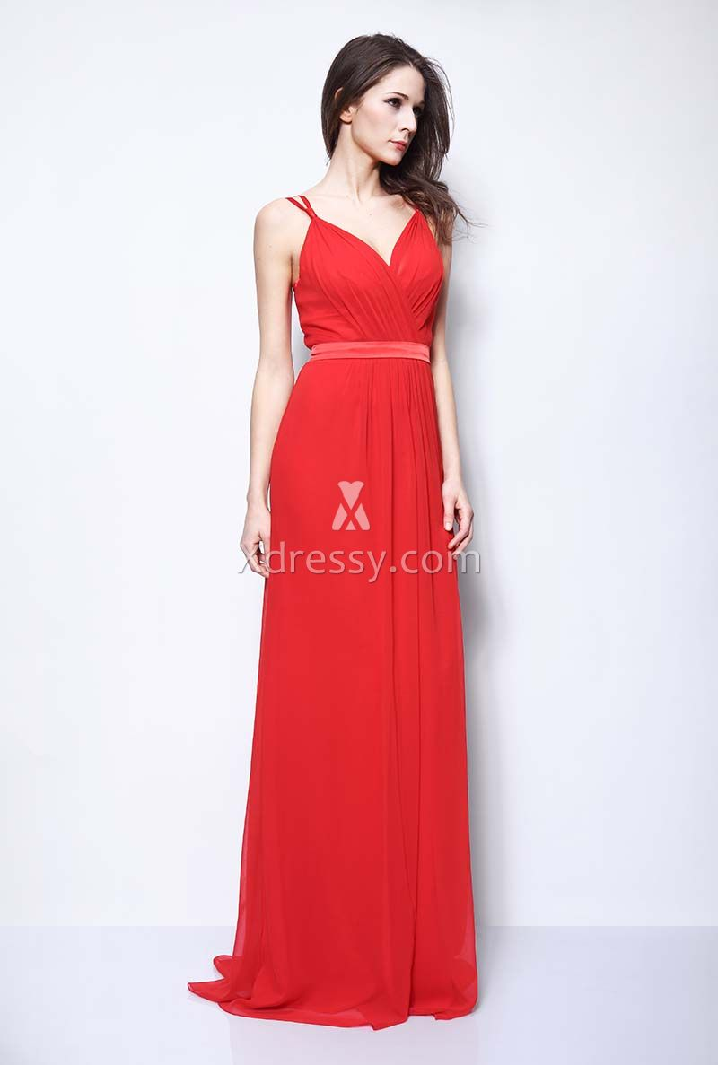 selena-gomez-red-carpet-chiffon-celebrity-bridesmaid-dress-3