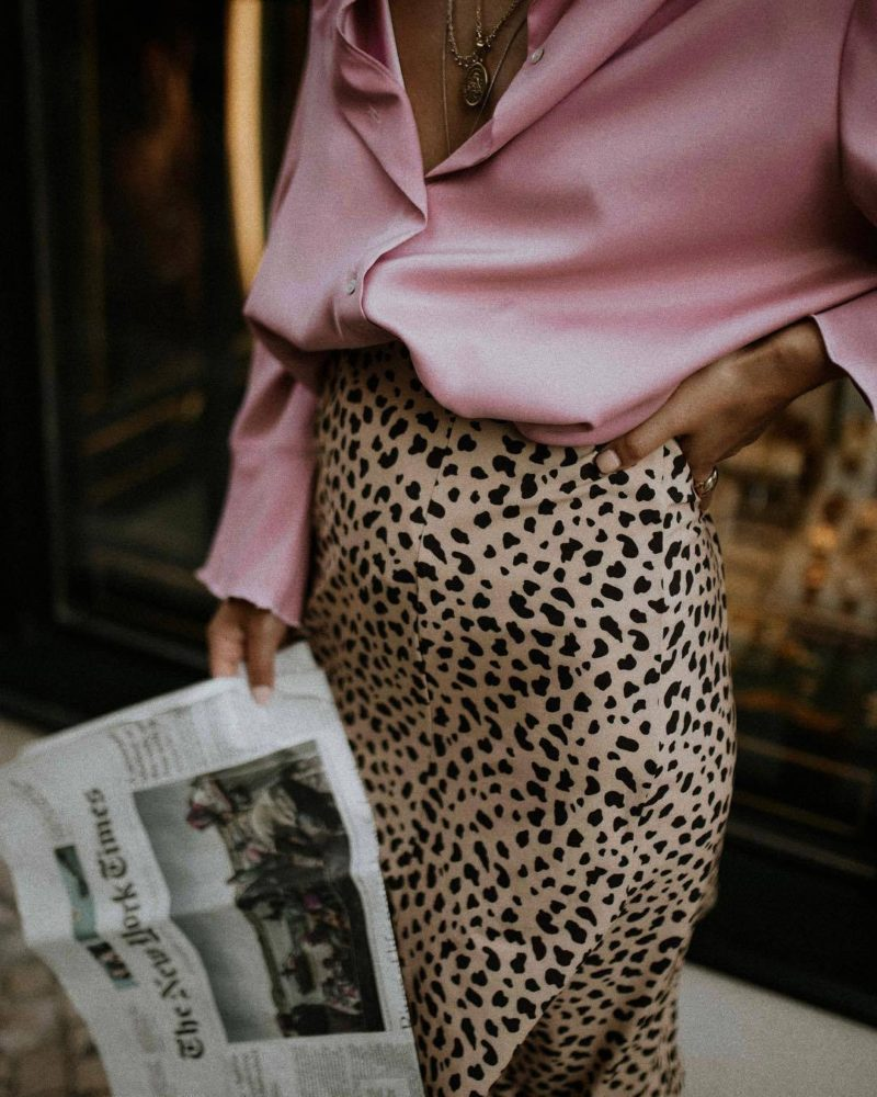 Leopard print and soft pink